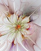 Abstract Flowers Digital Art - In Full Bloom by Amanda Moore