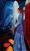 Surrealism Art - In Her Hallway by Neal Cormier
