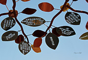 Metal Tree Sculpture Posters - In Memory of Poster by Suzanne Gaff
