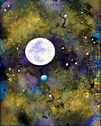 Moon Glass Art Acrylic Prints - In My Dreams Unrestrained I Acrylic Print by EJ Lefavour