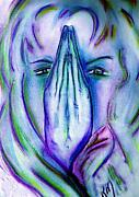 Hands Pastels Prints - In my Prayers Print by Robin Monroe