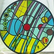Circle Glass Art - In the circle by Laura Vizbule