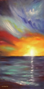 Sunset Posters Painting Framed Prints - In the Moment Framed Print by Gina De Gorna