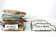 Overflowing Prints - Inbox And Outbox Print by Photo Researchers, Inc.