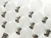 Light Bulbs Prints - Incandescent Light Bulbs Print by Tek Image