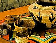 Baskets Mixed Media - Indian Baskets 2 by Stephen Anderson