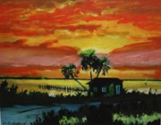 Bill Hubbard Posters - Indian River Sunset Poster by Bill Hubbard