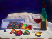 Red Wine Paintings - Indulgence by Cory Clifford