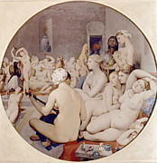 Bathhouse Posters - Ingres: Turkish Bath Poster by Granger