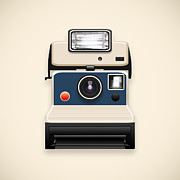Insert Prints - Instant Camera With A Blank Photo Print by Setsiri Silapasuwanchai