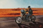 Motorcycle Pastels - Intergalactic Attack Formation by George Frizzell