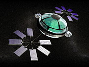 Solar Panel Prints - Interstellar Spaceship Print by Christian Darkin