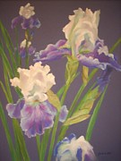 Flower Blooms Pastels Prints - Iris Print by Jackie  Hill