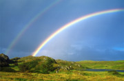 County Clare Framed Prints - Irish Double Rainbow Framed Print by John Greim