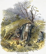 Homeless Man Prints - Irish Great Potato Famine Print by Granger