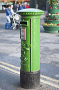 Postboxes Prints - Irish Postbox Print by Andrew  Michael