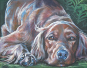 Irish Setter Posters - Irish Setter Poster by Lee Ann Shepard
