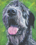 Puppy Paintings - Irish Wolfhound by Lee Ann Shepard