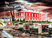 Arcadia Mixed Media Originals - Iron County Courthouse II by Kip DeVore