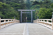 Torii Photos - Isa Shrine Torii Gate by Rob Tilley