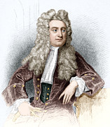 Briton Art - Isaac Newton, English Physicist by Sheila Terry