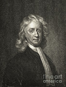 Knighted Metal Prints - Isaac Newton, English Polymath Metal Print by Science Source