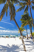 Beach Activities Prints - Isla Mujeres Beach Scenic  Print by George Oze