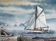 Tall Ship Painting Prints - Island Dreams Print by James Williamson