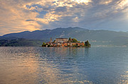 Boat House Prints - Island of San Giulio Print by Joana Kruse