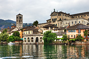 Piedmont Prints - Island of San Giulio on Lake Orta Print by Joana Kruse