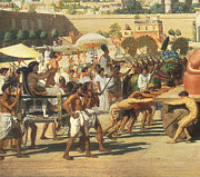 Lioness Painting Prints - Israel in Egypt Print by Sir Edward John Poynter