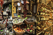 Italian Wine Photo Framed Prints - Italian Delicatessen or Macelleria Framed Print by Jeremy Woodhouse