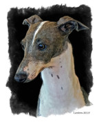 Greyhound Digital Art Posters - Italian Greyhound Poster by Larry Linton