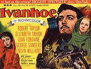 Joust Posters - Ivanhoe, Elizabeth Taylor, Robert Poster by Everett