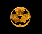 All Hallows Eve Prints - Jack-o-lantern Moon Print by Al Powell Photography USA