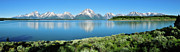 Photographic Art Art - Jackson Lake Teton Panorama by Greg Norrell