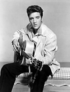 1950s Portraits Metal Prints - Jailhouse Rock, Elvis Presley, 1957 Metal Print by Everett