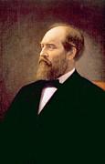 Garfield Prints - James A. Garfield 1831-1881, U.s Print by Everett