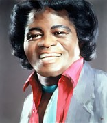 James Brown Prints - James Brown Print by Paul Bartoszek