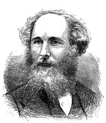 Clerk Posters - James Clerk Maxwell Poster by Granger