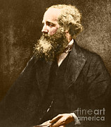 Color Wheel Art Prints - James Clerk Maxwell, Scottish Physicist Print by Omikron