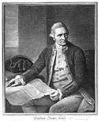 Captain Prints - James Cook (1728-1779) Print by Granger