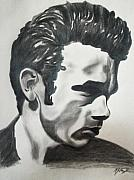 James Dean Posters Drawings Prints - James Dean Print by Mikayla Henderson