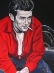 Actors Drawings - James Dean Put His Picture in a Picture Show by Eric Dee