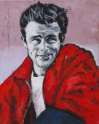 Release Drawings Posters - James Dean Without a Cause Poster by Eric Dee