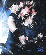 Metallica Painting Framed Prints - James Hetfield Framed Print by Brian Carlton