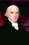 President Of The United States Photos - James Madison 1751-1836, U.s. President by Everett