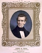 Ajgroup Prints - James Polk 1795-1849 President Print by Everett