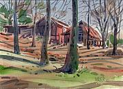 Plein Air Art - Jamess Barns 7 by Donald Maier