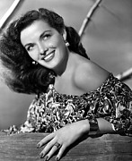 Bare Shoulder Photo Prints - Jane Russell, Portrait Print by Everett